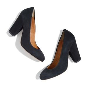 [Madewell] 5 The Frankie Pump in Suede Black
